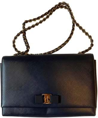 Salvatore Ferragamo Navy Patent leather Handbags