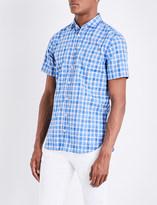 HUGO BOSS Checked slim-fit cotton shirt