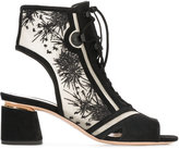 Nicholas Kirkwood embroidered suede booties - women - Leather/Suede/Polyester - 35