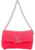 Chanel Fancy Crochet Flap Bag