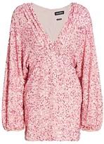 retrofete Aubrielle Sequin Plunge Dress