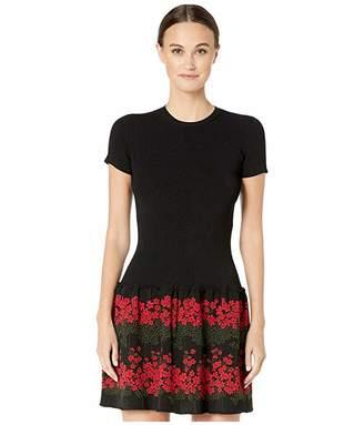 RED Valentino Stretch Viscose Yarn and Dreaming Peony Jacquard Dress