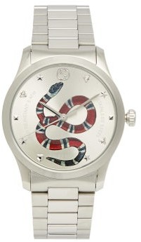 Gucci G-timeless Stainless-steel Watch - Mens - Silver