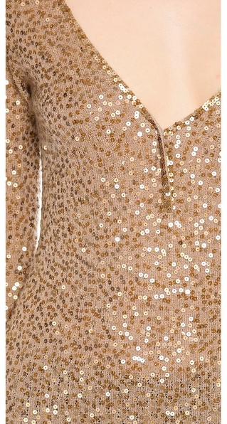 Donna Karan Elbow Sleeve Henley