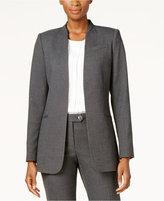 Calvin Klein Open-Front Seamed Blazer