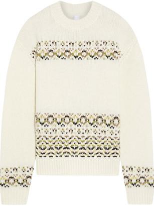 Iris & Ink Brooke Merino Wool-blend Jacquard Sweater