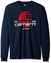 Carhartt Men's Lubbock Graphic Filled Flag Long Sleeve T-Shirt