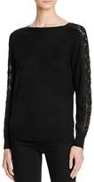 Magaschoni Embellished Sleeve Cashmere Sweater