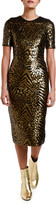 Antonio Marras Sequined Fitted Sheath Dress