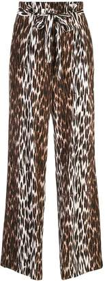 L'Agence paper bag palazzo trousers