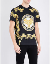 Versace Baroque Printed Pure Cotton T-shirt