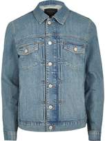 River Island Mens Blue relaxed fit denim jacket