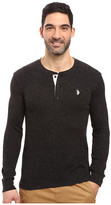 U.S. Polo Assn. Long Sleeve Slim Fit Fleck Thermal Henley Pullover