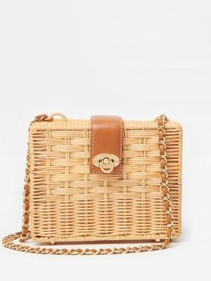 J.Mclaughlin Christina Wicker Crossbody Bag