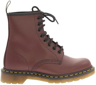 Dr. Martens 1460 Smooth Leather Ankle Boots Cherry Red