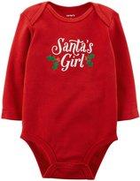 Carter's Slogan Bodysuit (Baby)-Santas Girl-24 Months