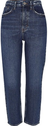 River Island Straight Leg Denim Jeans-dark Authentic