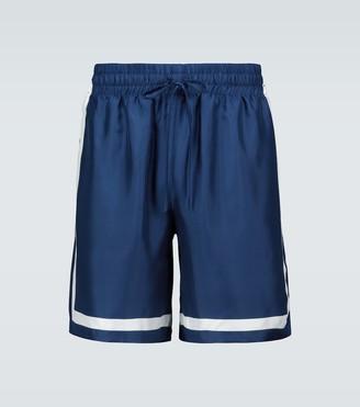 Casablanca Silk tennis shorts