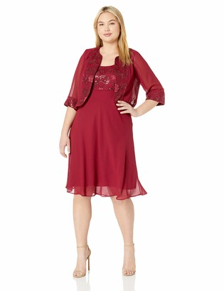 Le Bos Women's Sequin Embroidered Jacket Dress