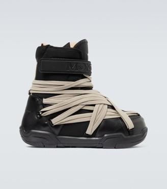 Rick Owens Moncler + lace-up moon boots