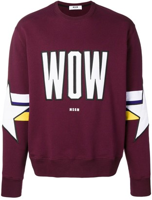 MSGM Wow embroidered sweatshirt