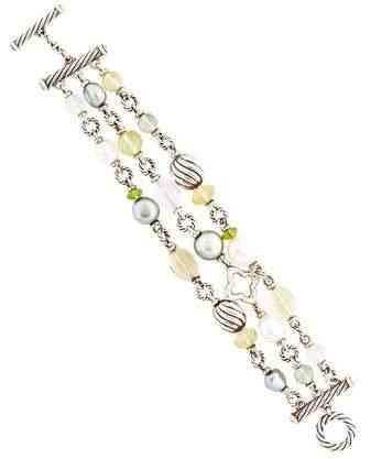 David Yurman Multistone Three Row Bracelet