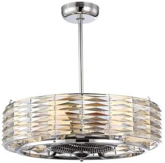 "Savoy House Taurus 6-Light Air Ionizing Fan D'Lier, 29.5"""