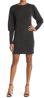 RD Style Rib Balloon Sleeve Hacci Sweater Dress