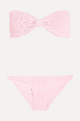 Hunza G Jean Seersucker Bandeau Bikini - Baby pink