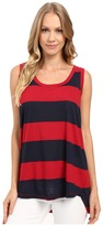 Allen Allen Stripe Hi-Low Tank Top