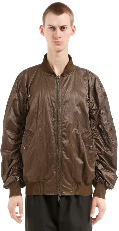 Damir Doma Oversize Zip-Up Nylon Bomber Jacket