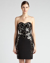 Lanvin Jewel Strapless Dress