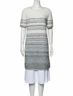 Chanel 2018 Knee-Length Dress Metallic