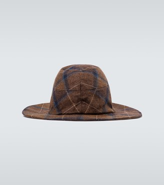 Undercover Checked wool ears hat