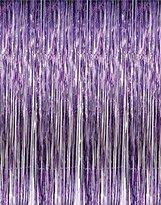 Thomas Laboratories 2 X 3' x 8' Purple Tinsel Foil Fringe Backdrop Door Window Curtain Party Decoration