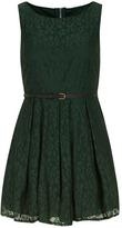 Yumi Green belted lace dress