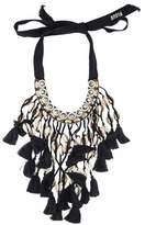 Figue Crystal & Shell Bardot Collar Necklace