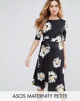 Asos PETITE Midi Dress in Daisy Print