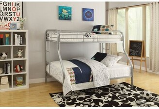 Hirst Bunk Bed Zoomie Kids Bed Frame Color: Rainbow, Size: Twin/Full