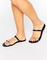 Call it SPRING Chuna Strap Slide Flat Sandals