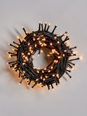 Festive 200 Battery Operated Warm White Indoor/Outdoor Christmas Lights