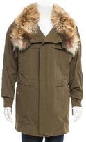 Toga Fur-Trimmed Woven Jacket