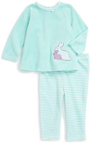 Offspring Velour Bunny Tunic & Legging Set (Baby Girls 3-9M)