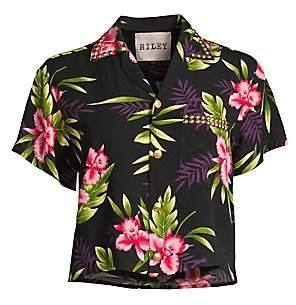 Riley Women's Floral Print Hawaiian Shirt