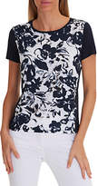 Betty Barclay Floral Print T-Shirt, Dark Blue/Cream