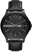 Armani Exchange Analog & Date Leather-Strap Dress Watch