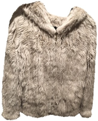 Meteo Beige Rabbit Coat for Women