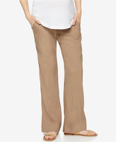 A Pea in the Pod Maternity Linen-Blend Bootcut Pants