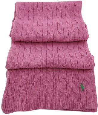 Ralph Lauren Pink Wool Scarves