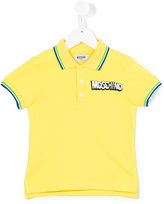 Moschino Kids - embroidered logo polo shirt - kids - Cotton/Spandex/Elastane - 4 yrs